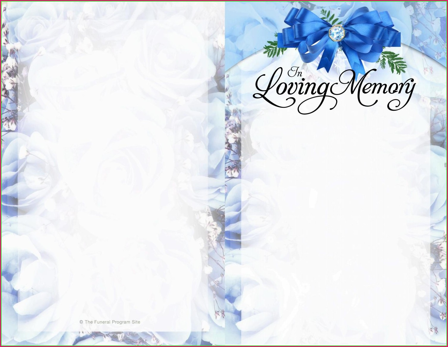 Downloadable Free Editable Funeral Program Template Pdf
