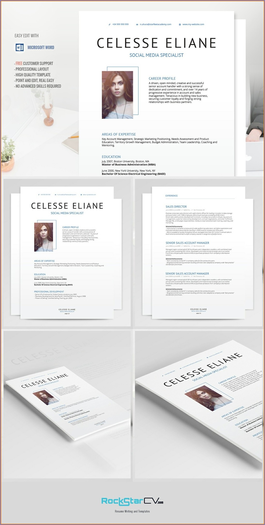Downloadable Free Modern Resume Templates For Word