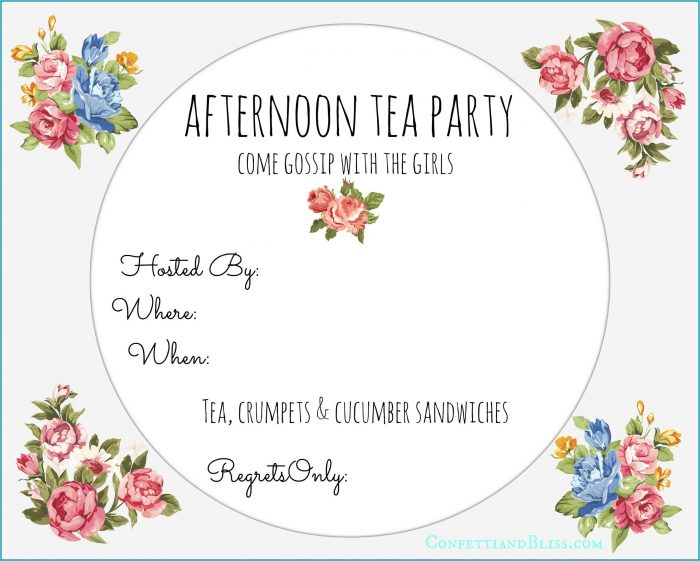 Downloadable High Tea Invitation Template
