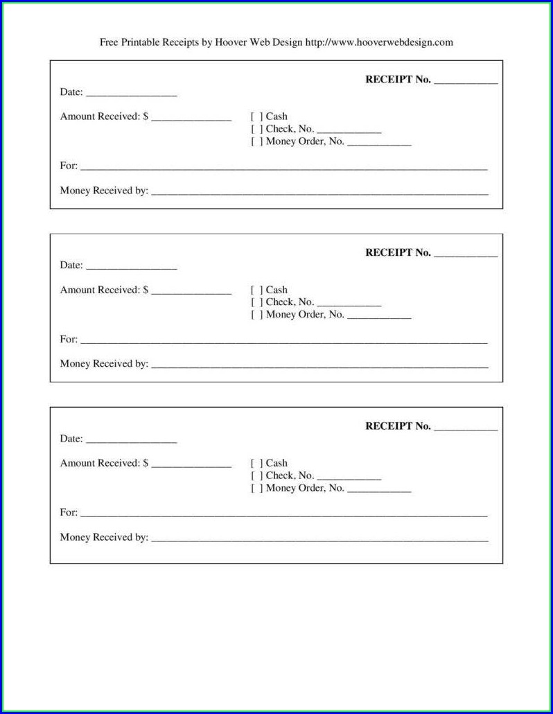 Downloadable Receipt Template Doc