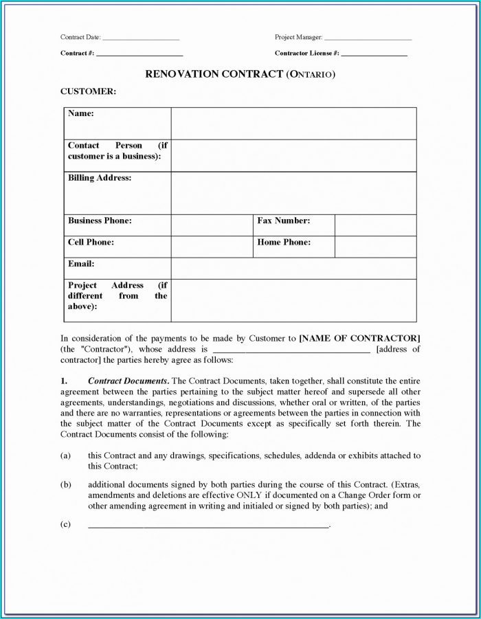 Drywall Contract Template