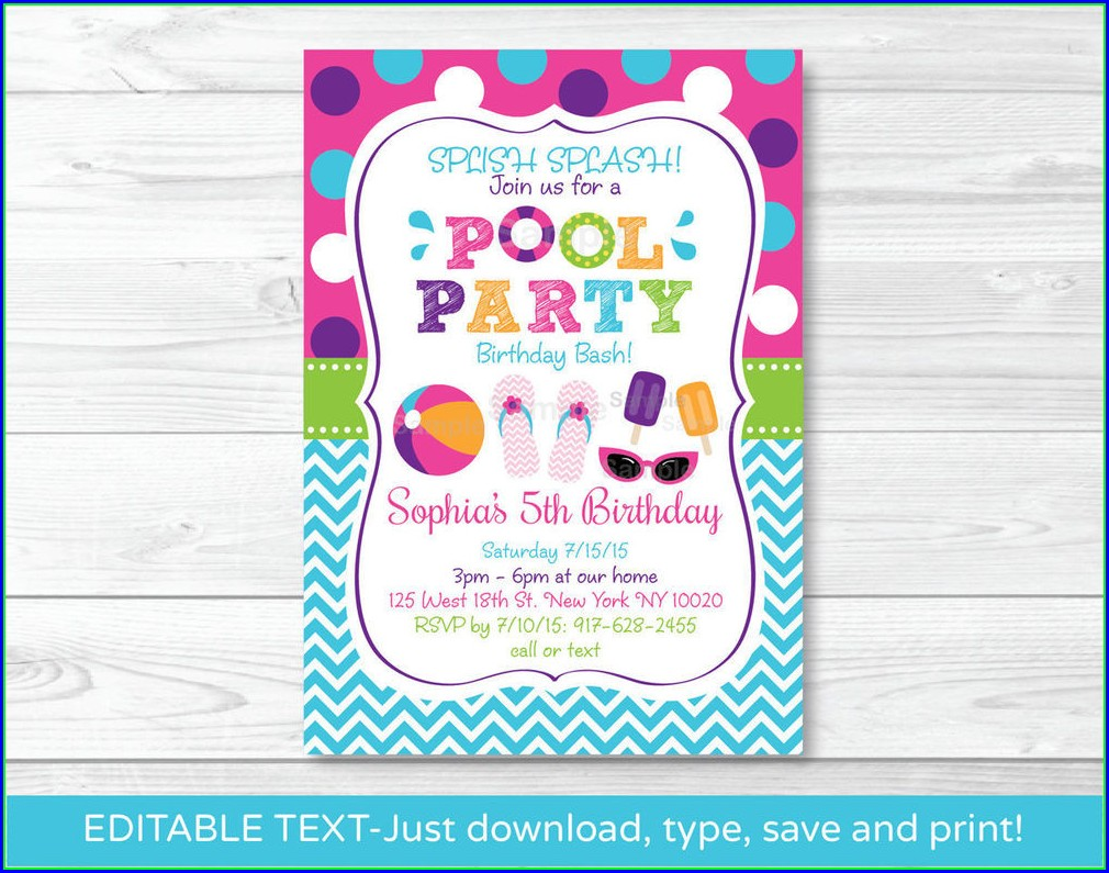 Editable 18th Birthday Invitation Templates Printable Free