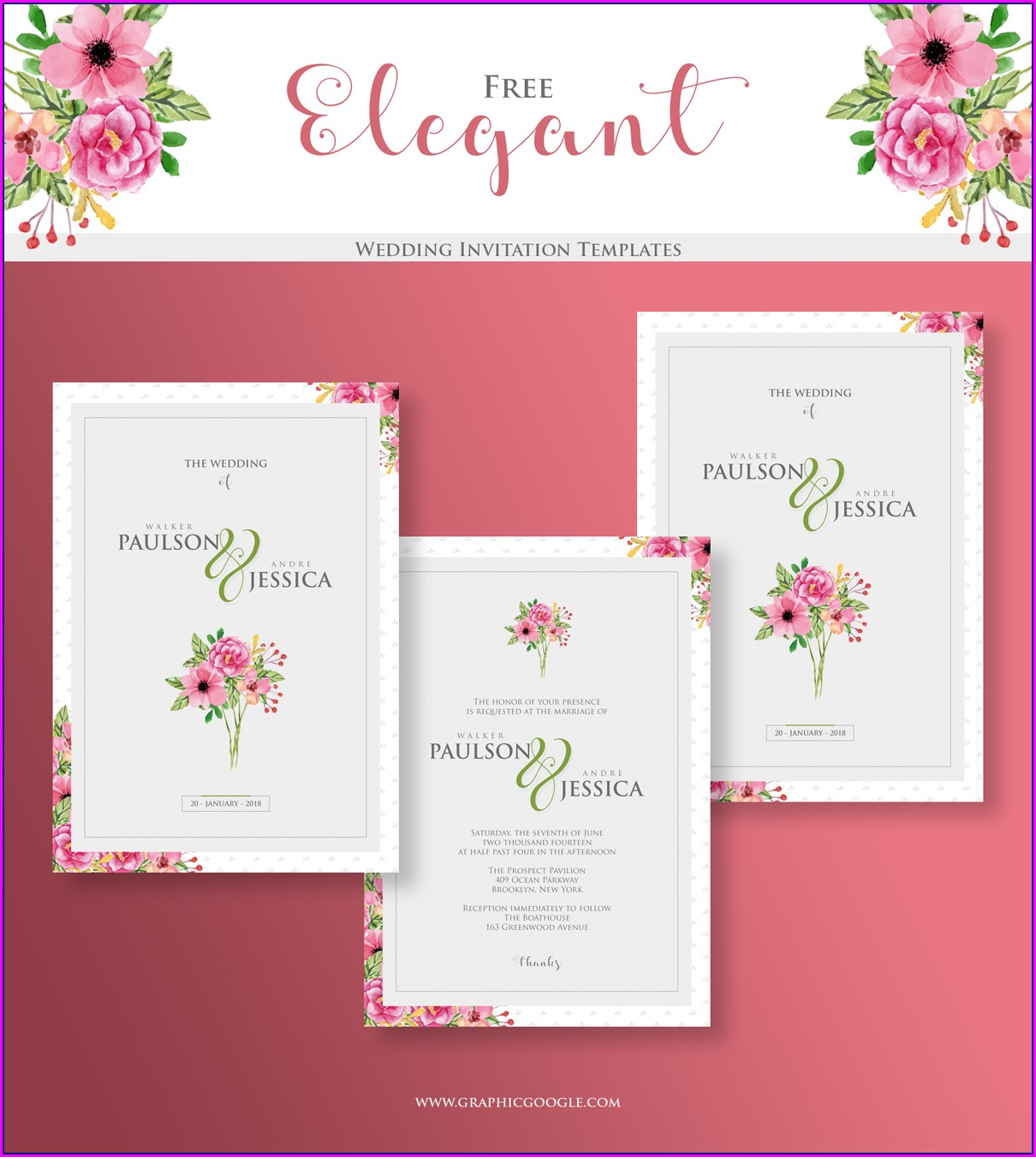 Elegant Wedding Invitation Templates Free
