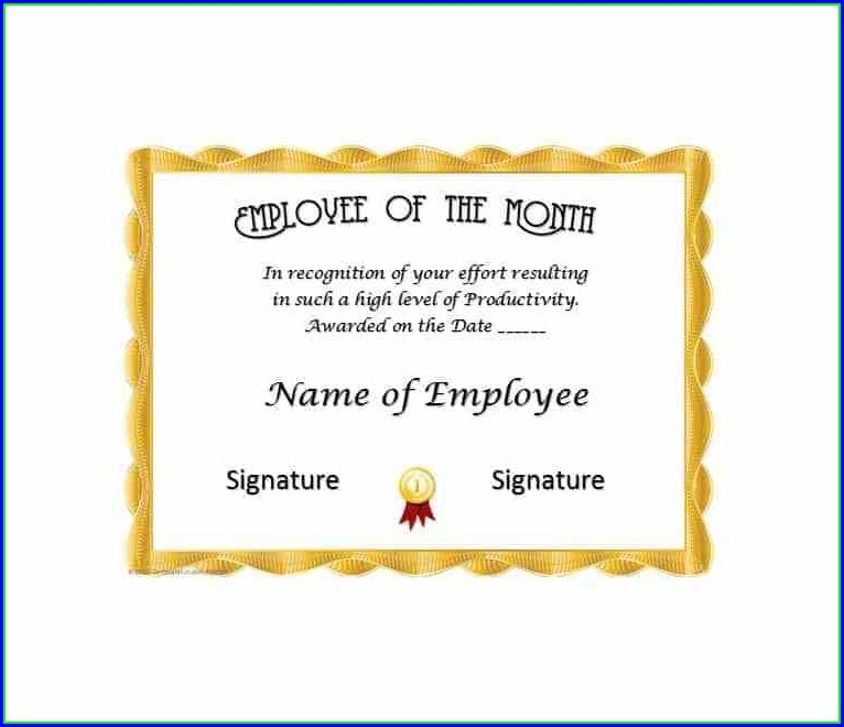 Employee Plaque Of Appreciation Template