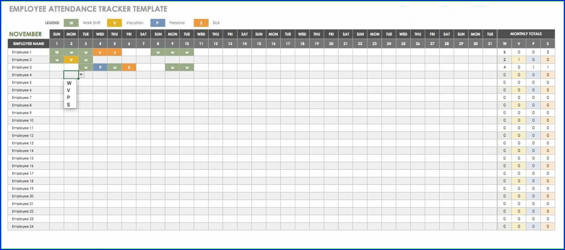 Employee Training Tracker Template