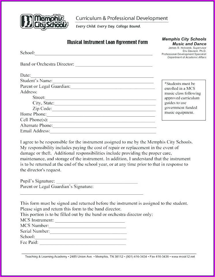 Equipment Loan Agreement Template Free