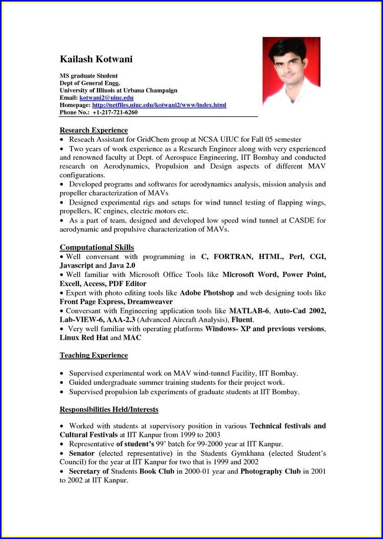 Example Of Resume Cover Letter For Internship