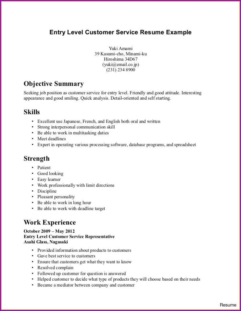 Examples Of Entry Level Lpn Resumes