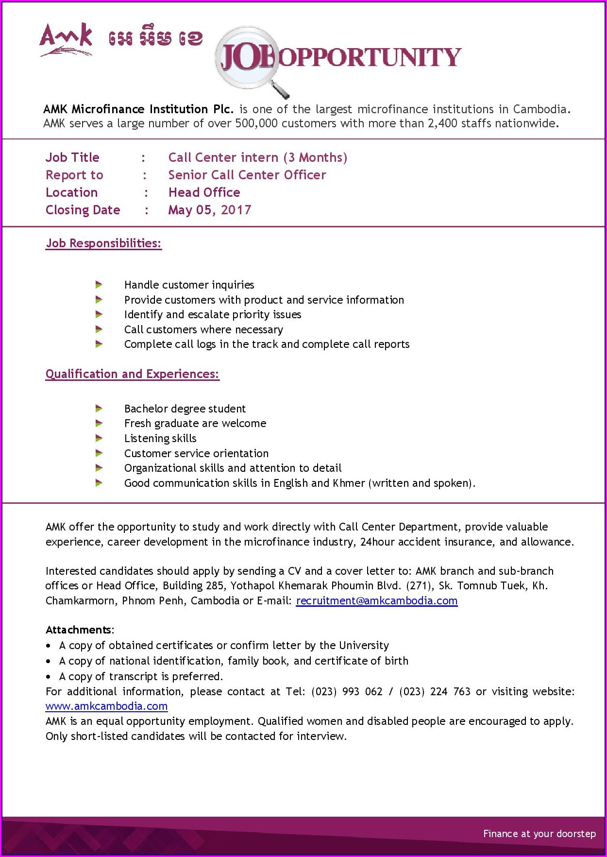 Examples Of Resumes For Customer Service Representative