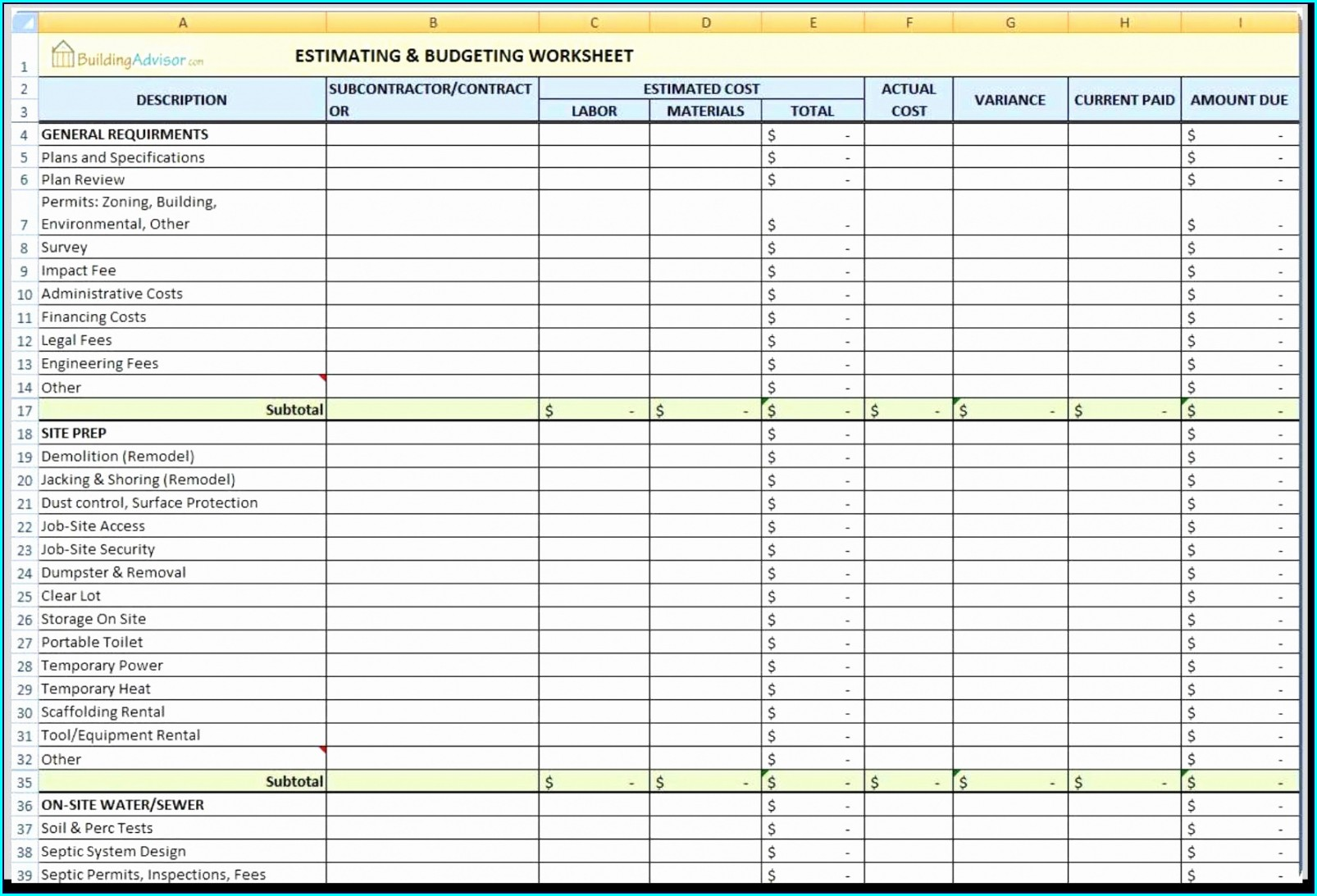 Excel Liquor Inventory Template