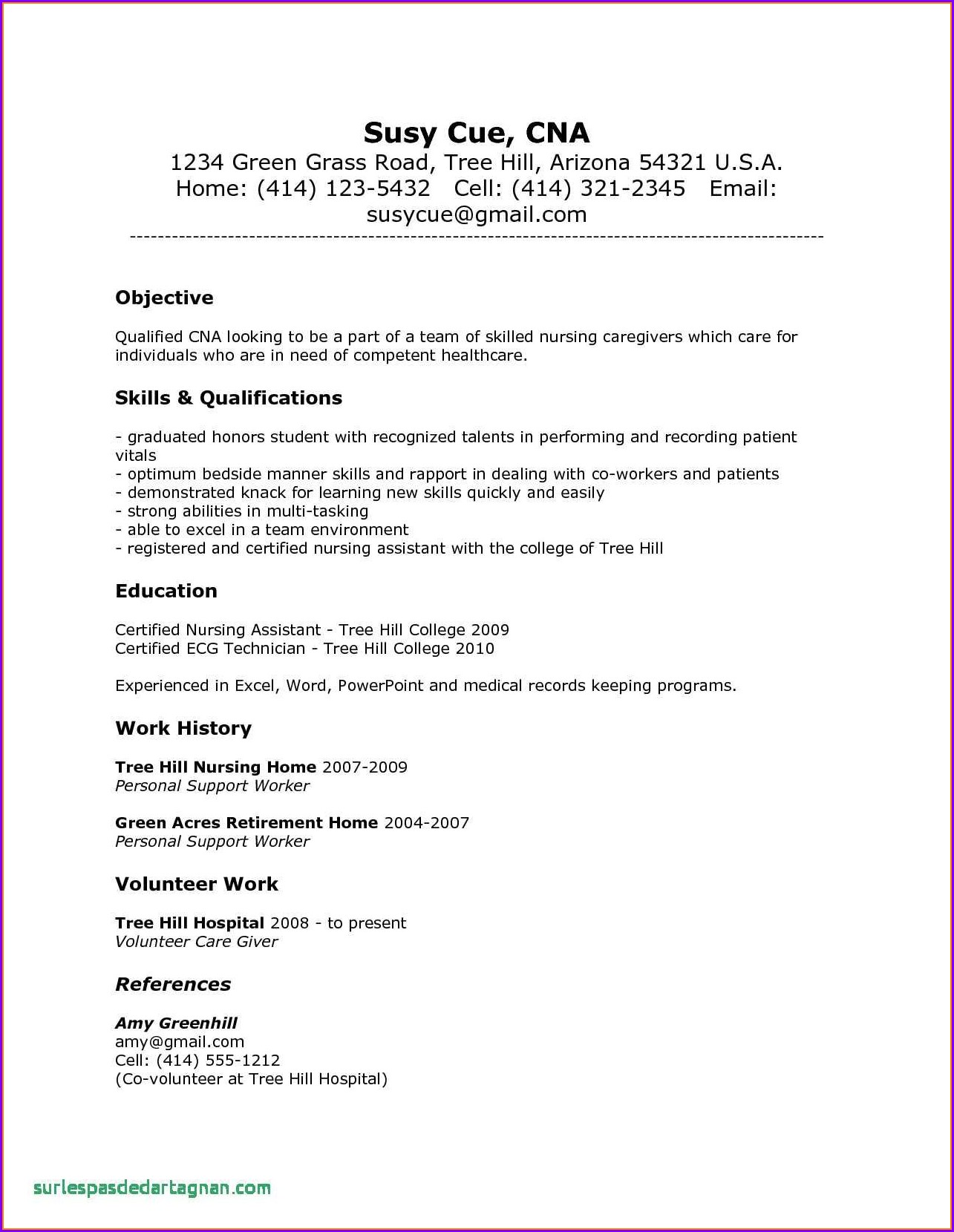 Experience Registered Nurse Resume Sample