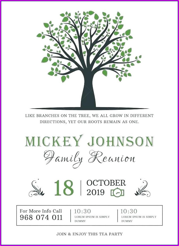 Family Reunion Flyer Templates