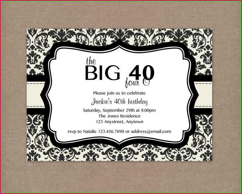 Female Free 40th Birthday Invitations Templates