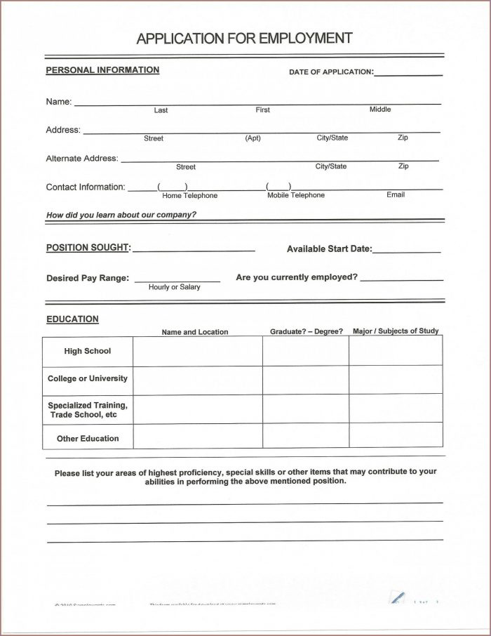 Fill In The Blank Resume Template Pdf