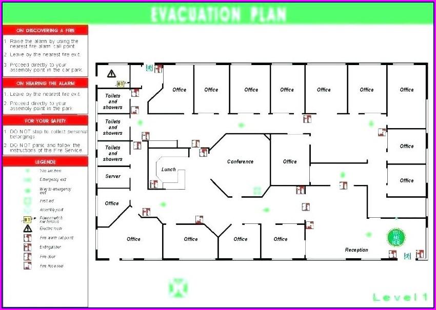 Fire Exit Floor Plan Template