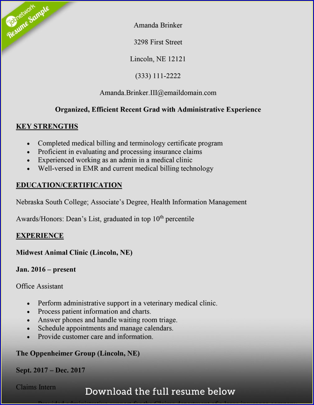 First Time Resume Medical Coding Resume For Fresher Pdf