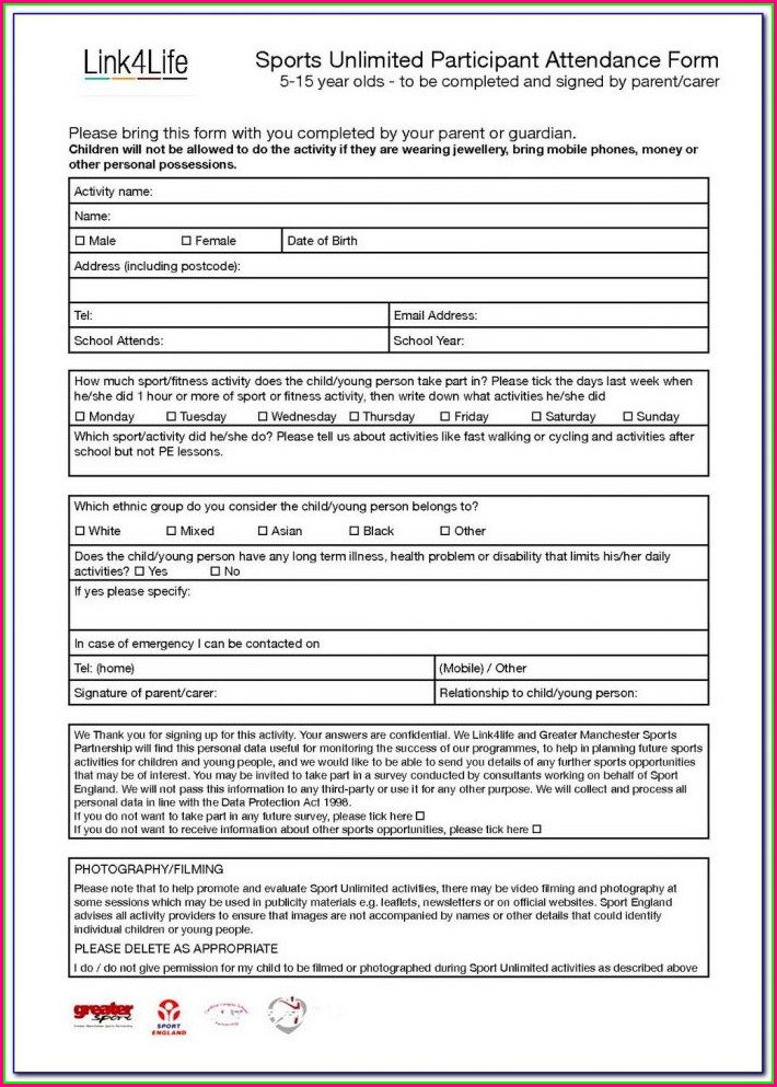 Football Club Registration Form Template