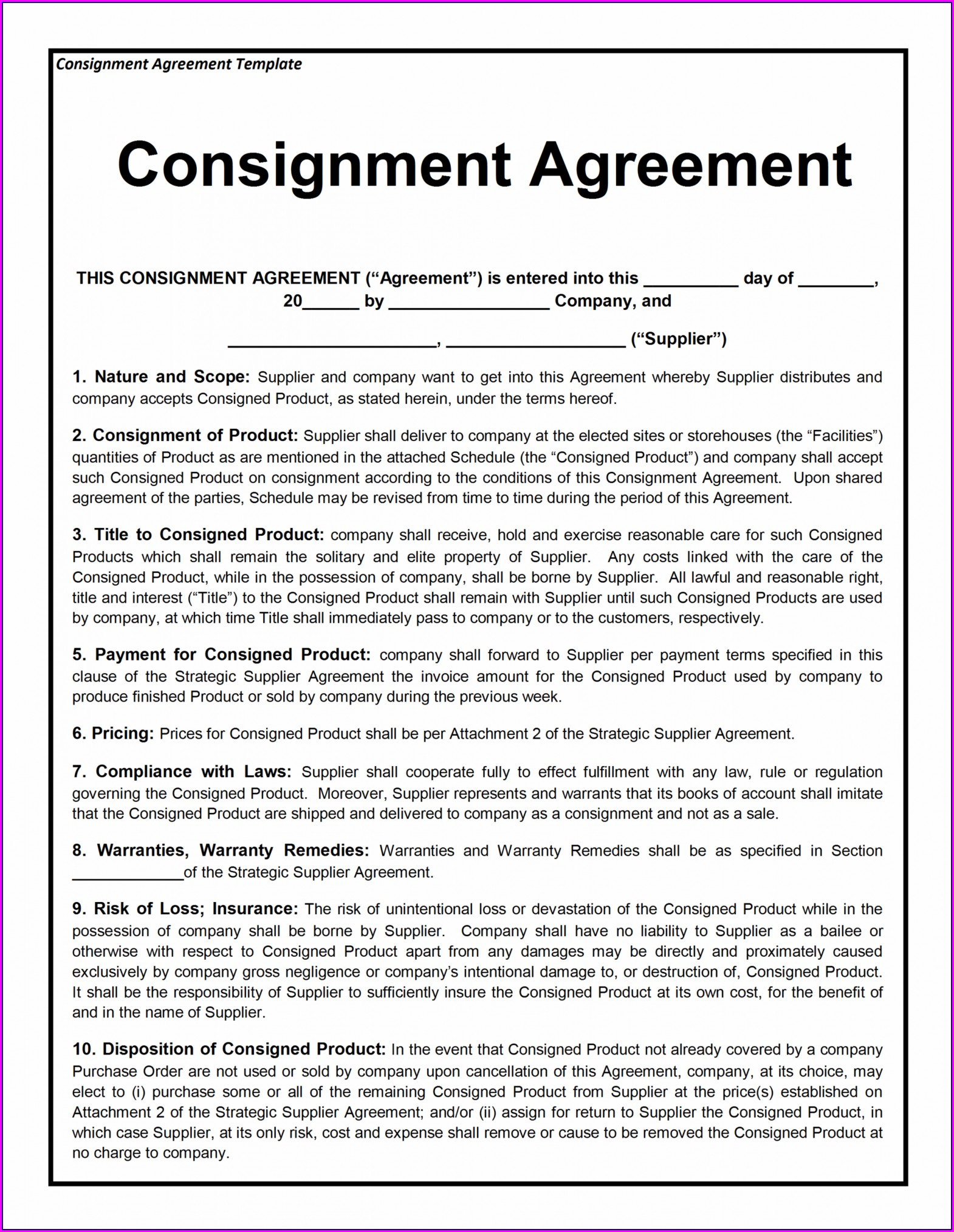 Franchise Contract Franchise Agreement Template