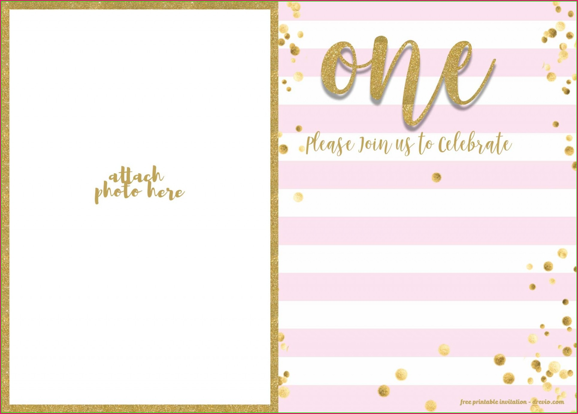 Free 1st Birthday Invitation Templates Photoshop