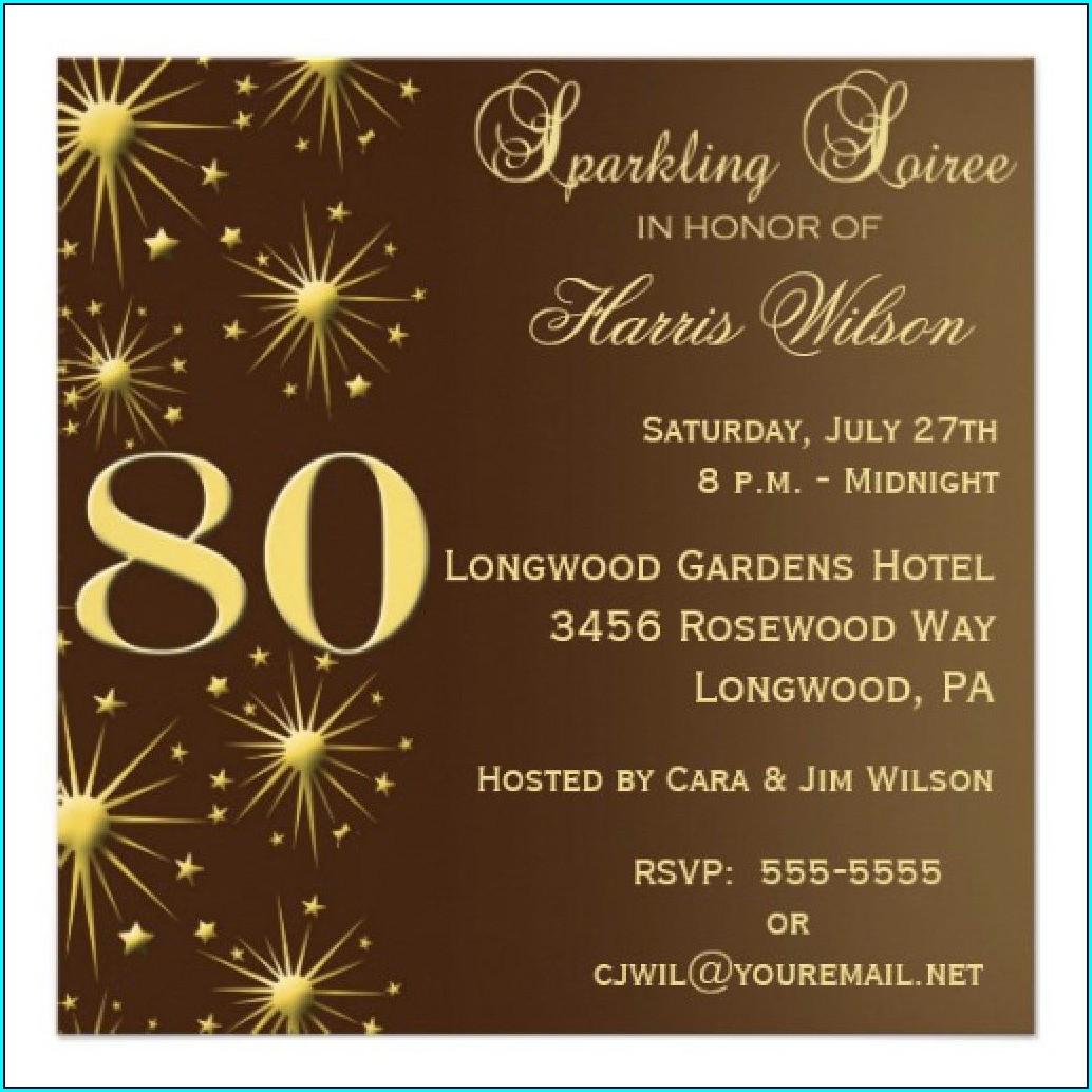Free 70th Birthday Invitations Templates