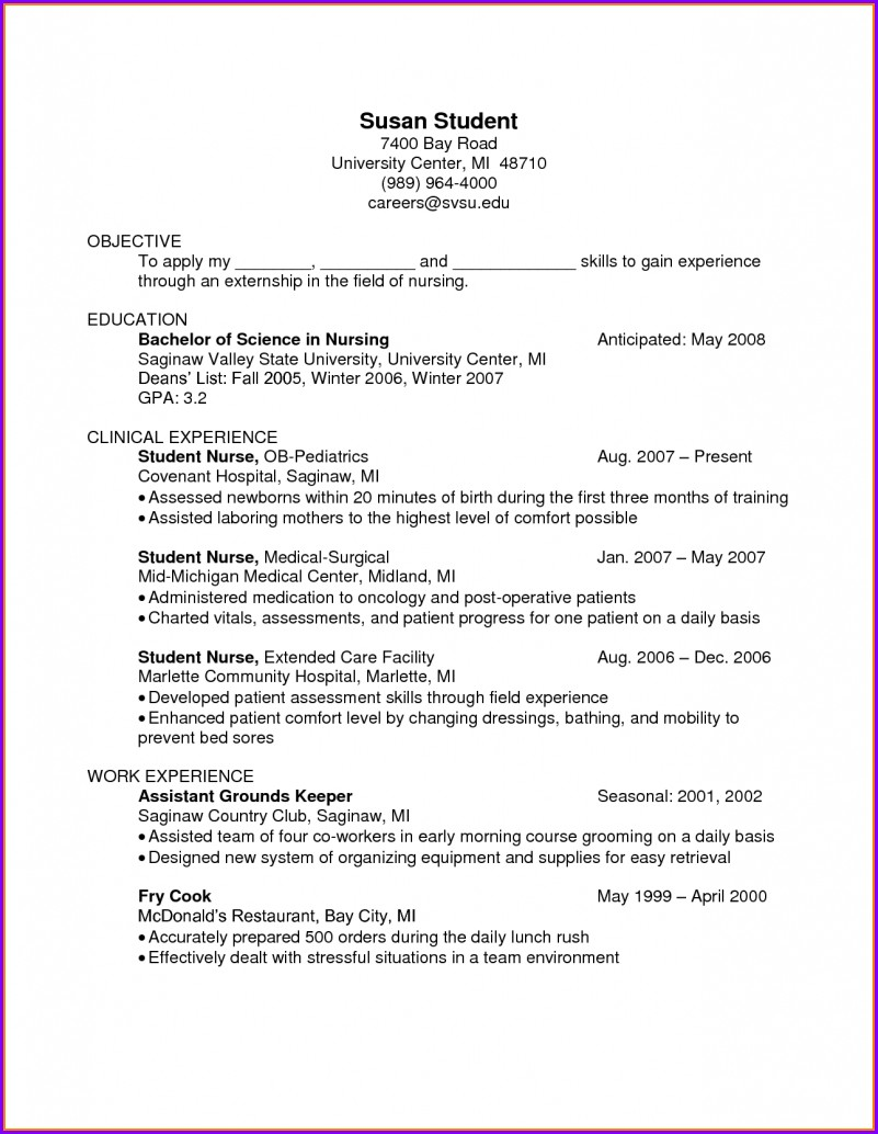 Free Cook Resume Templates