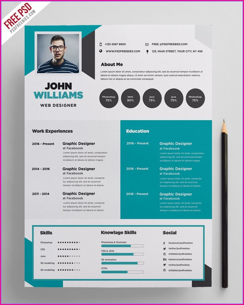 Free Creative Resume Template Doc Free Download