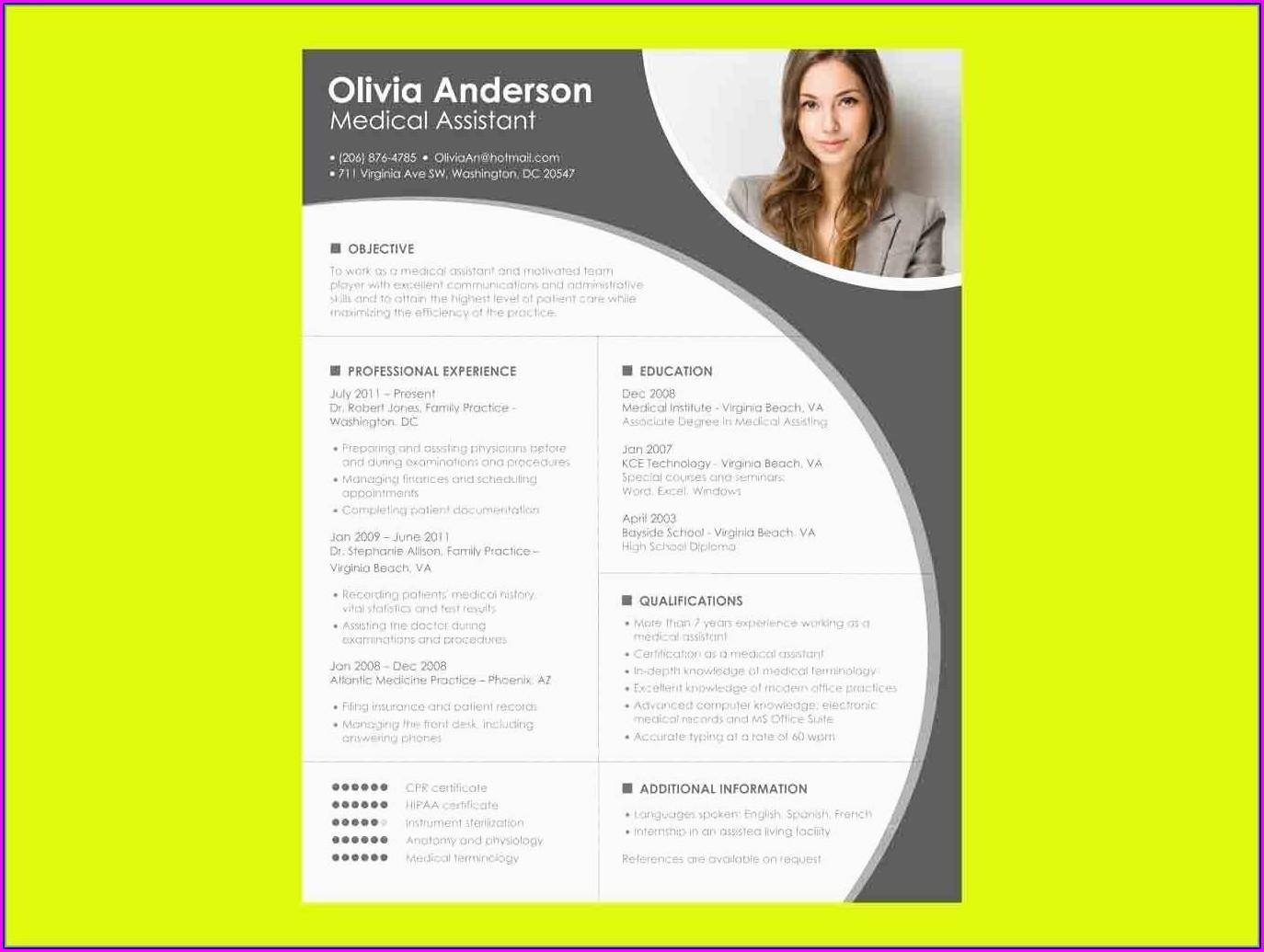 Free Creative Resume Templates Microsoft Word 2007
