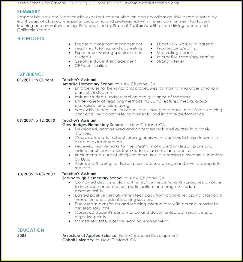 Free Creative Teacher Resume Templates
