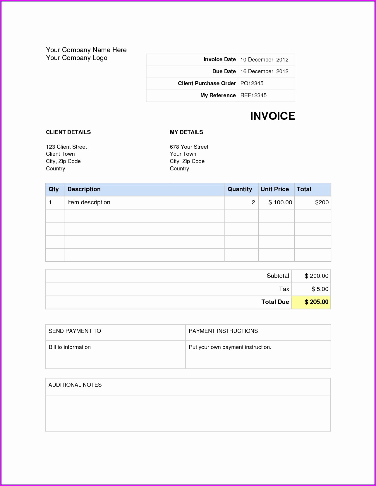 Free Download Receipt Template