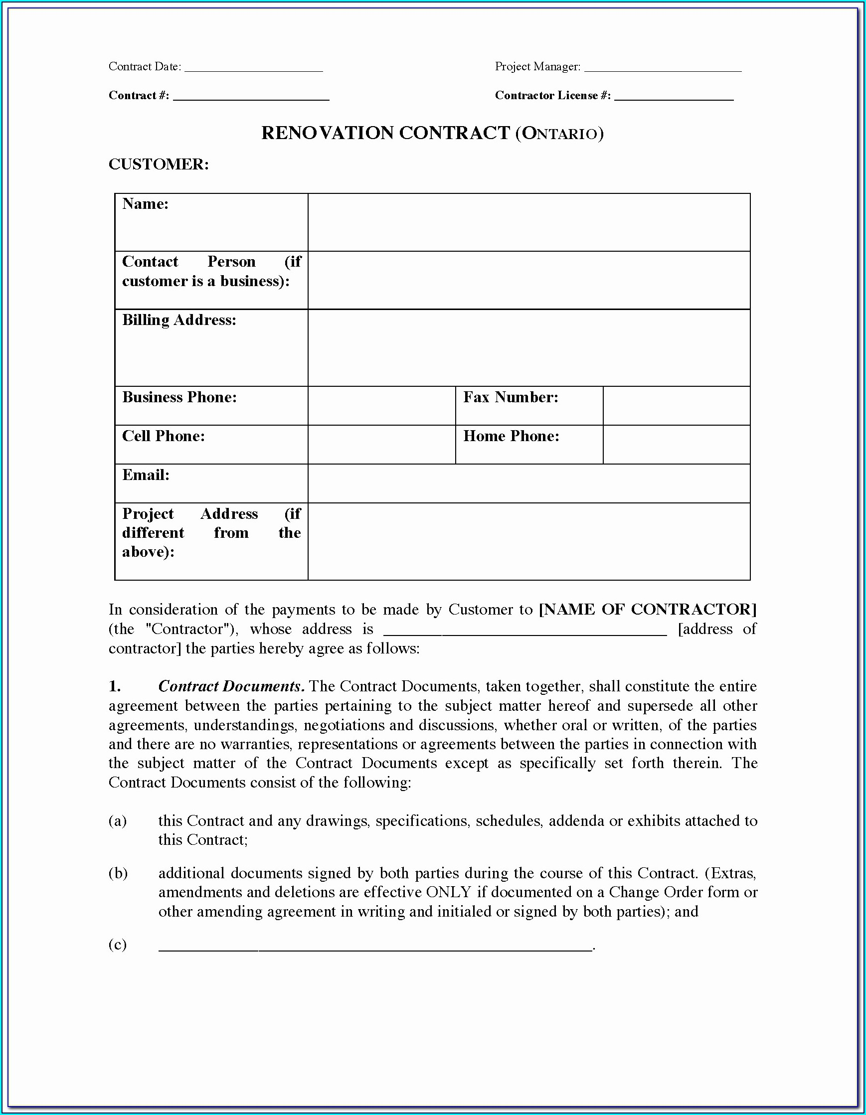 Free Drywall Contract Template