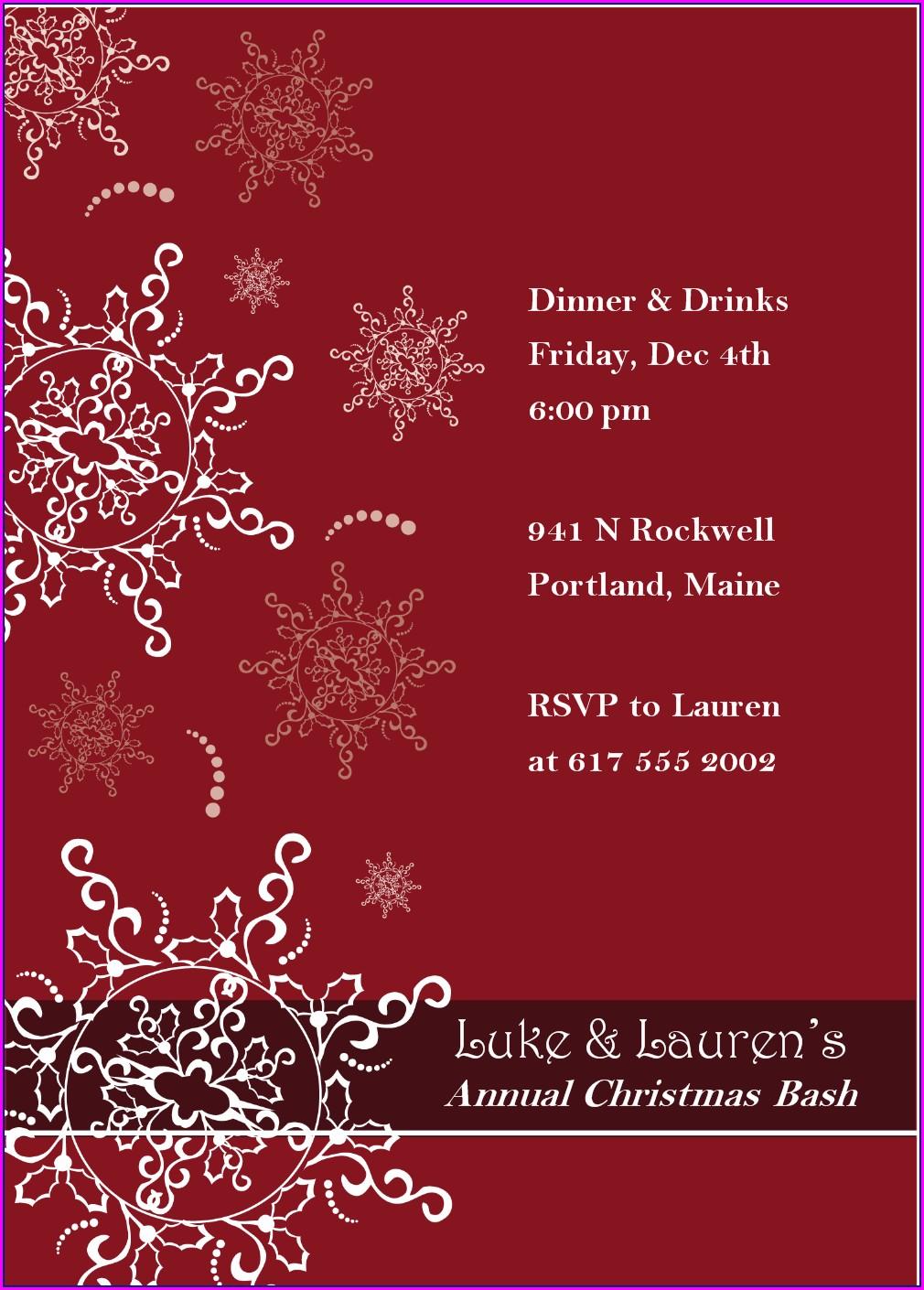 Free Elegant Christmas Invitation Templates