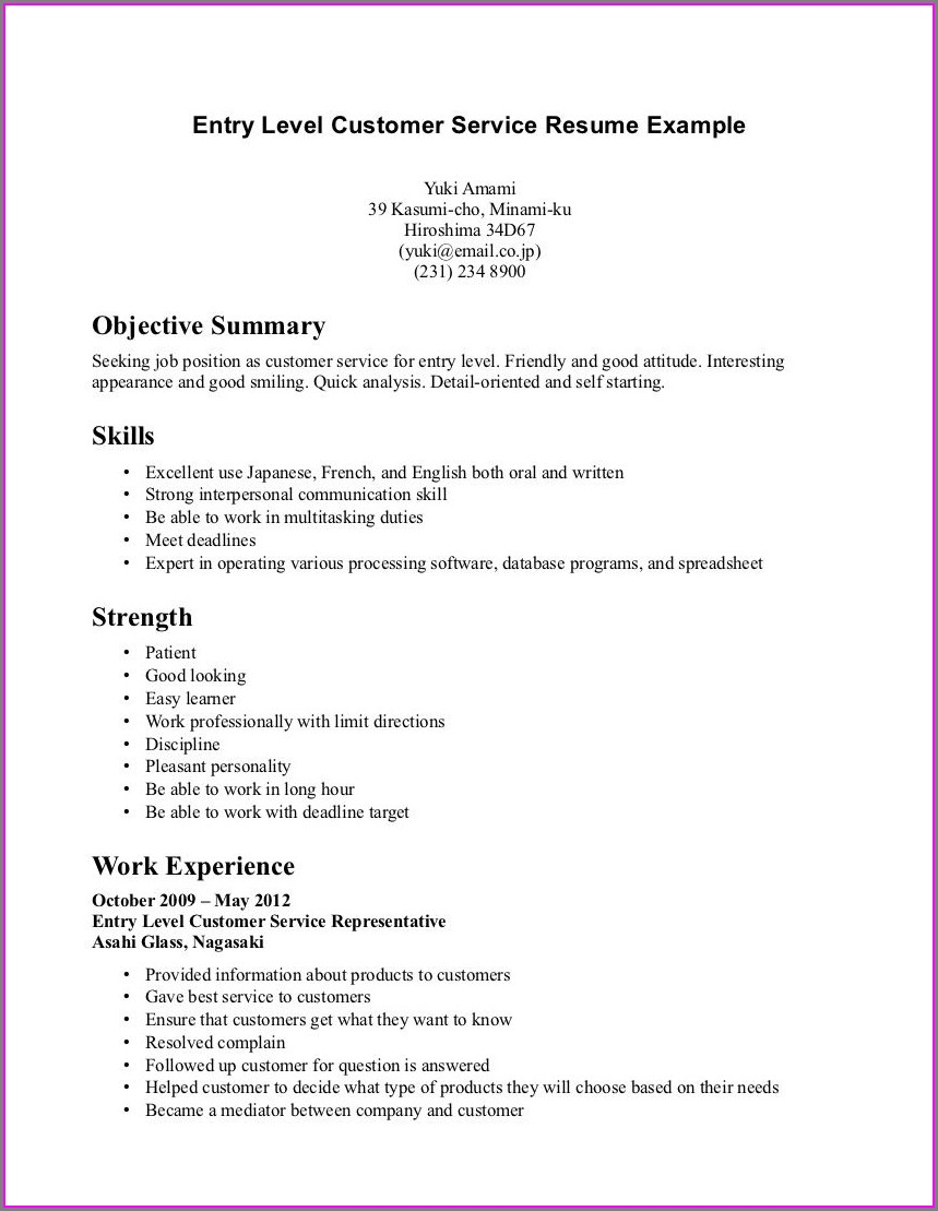 Free Entry Level Nurse Resume Template