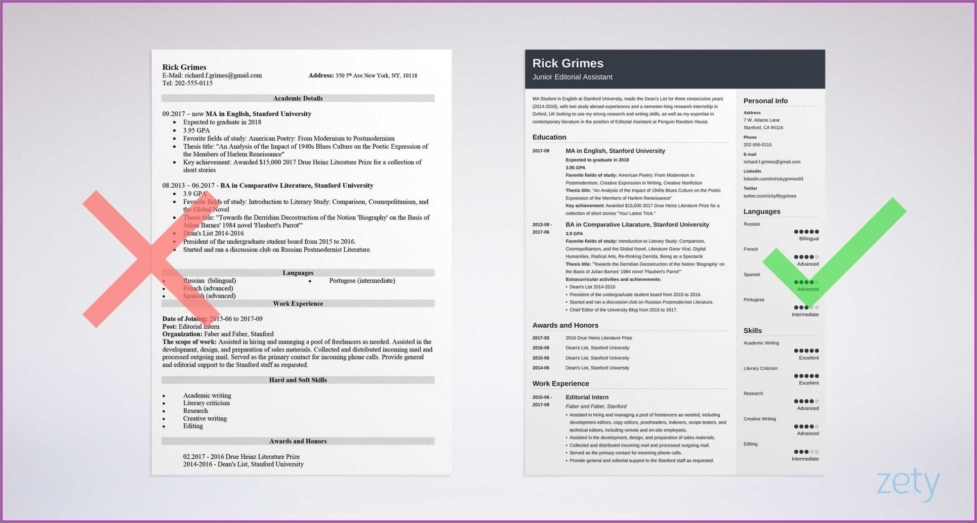 Free Entry Level Resume Examples