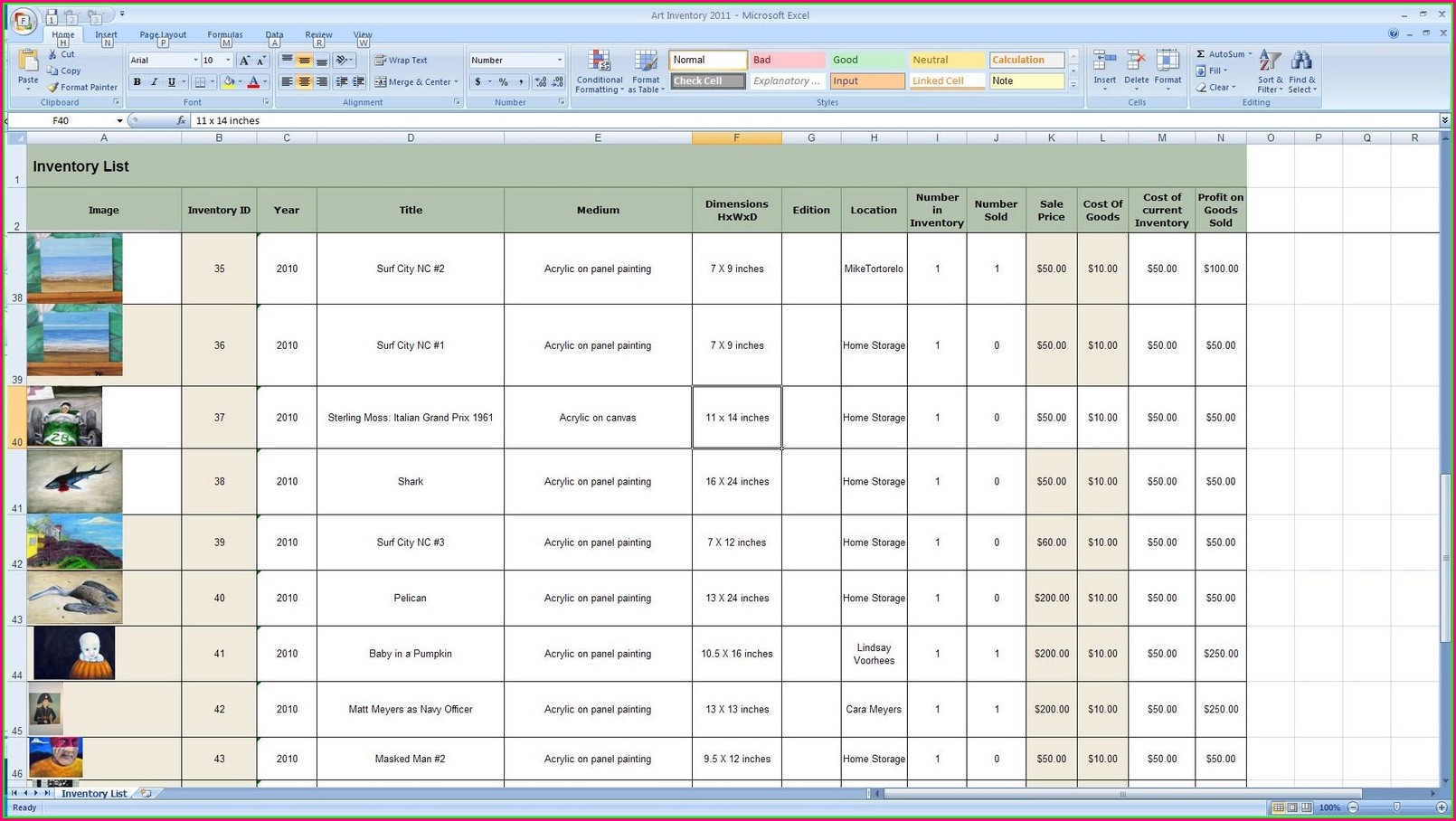 Free Excel Inventory Management Template