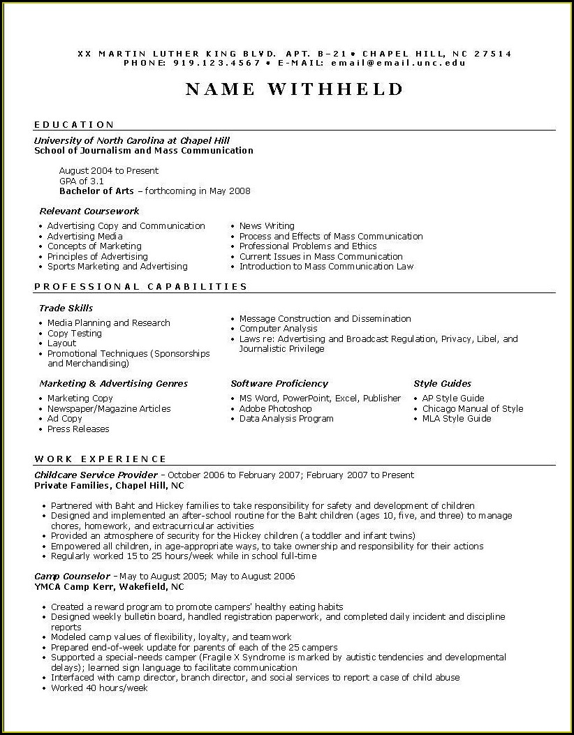 Free Functional Resume Example