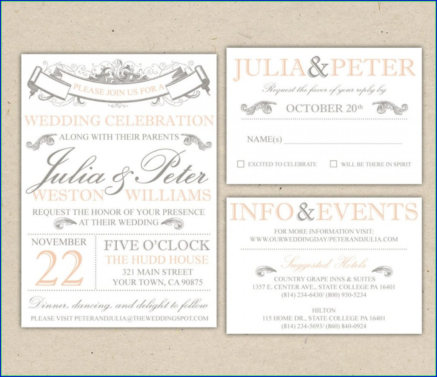 Free Indian Wedding Invitation Templates For Word