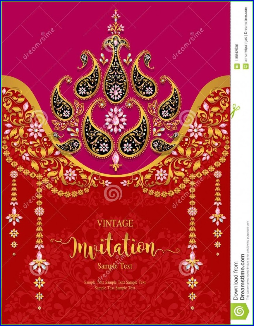Free Indian Wedding Invitation Templates