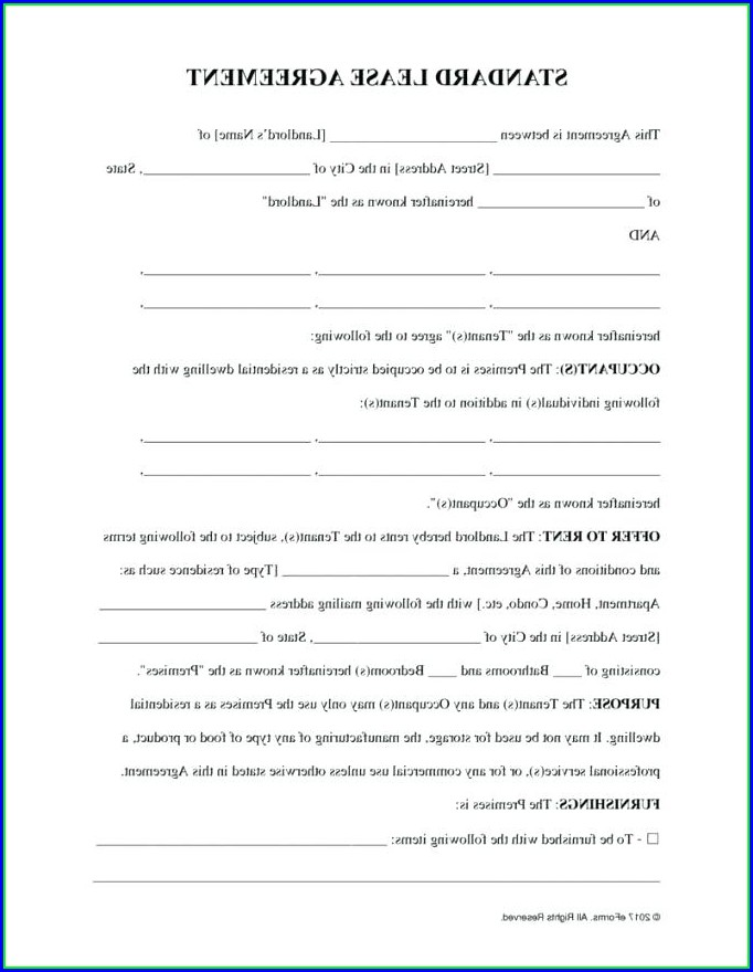 Free Lodger Agreement Template England