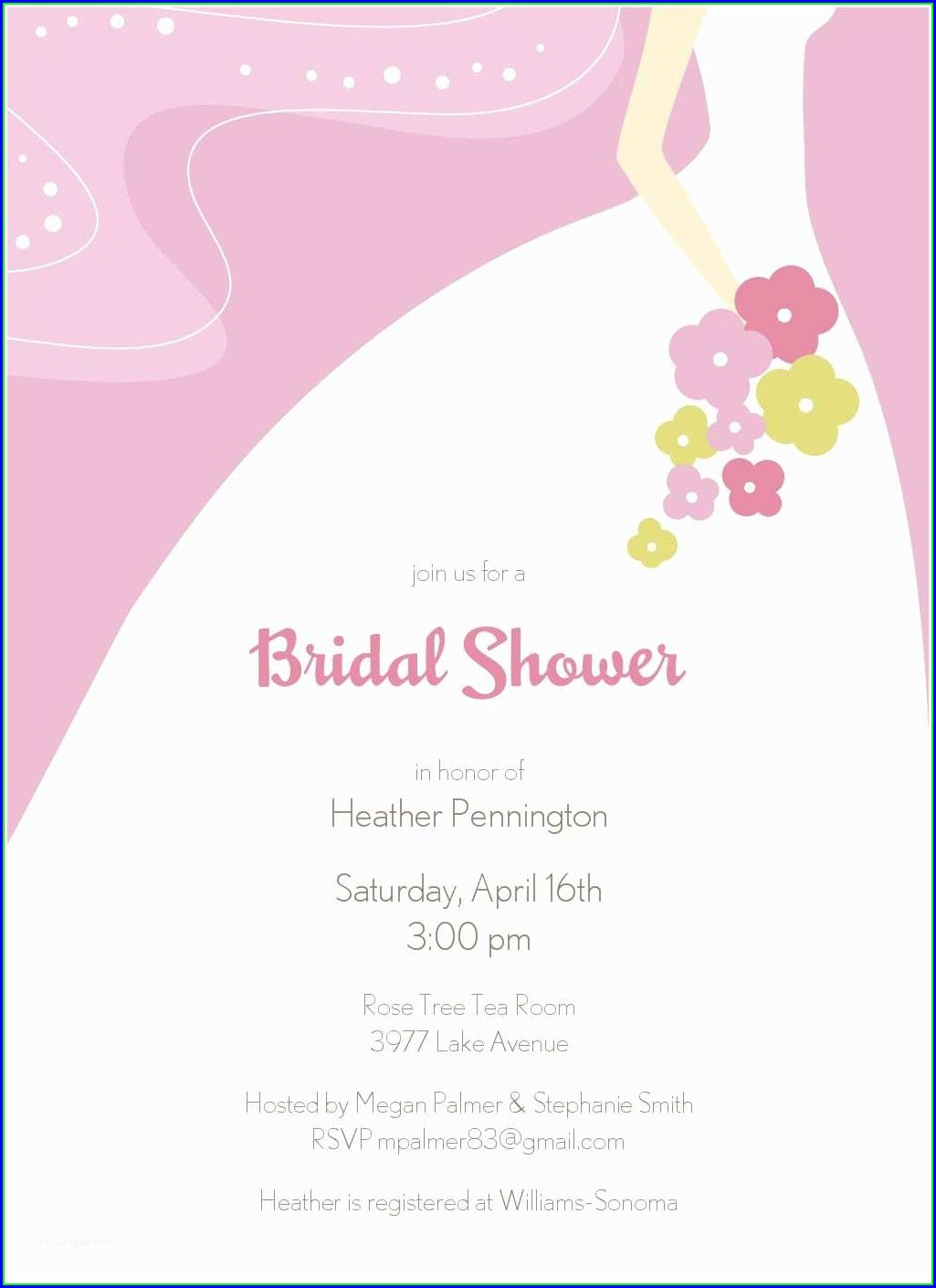 Free Online Bridal Shower Invitations Templates