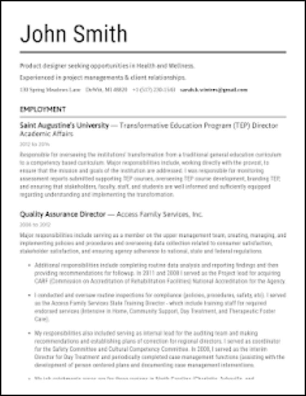 Free Pdf Resume Builder