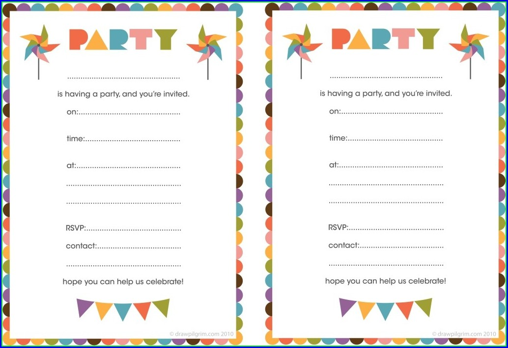 Free Printable Birthday Invitation Templates For Boys