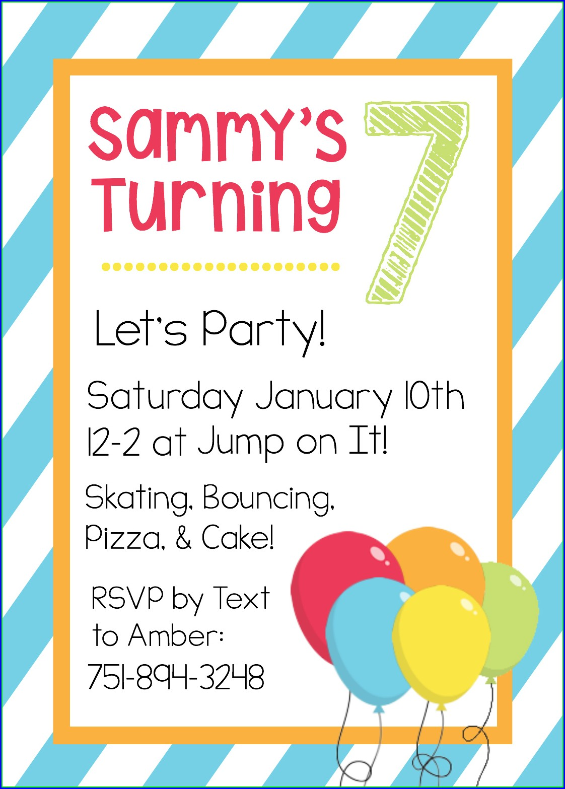 Free Printable Kids Birthday Invitation Templates