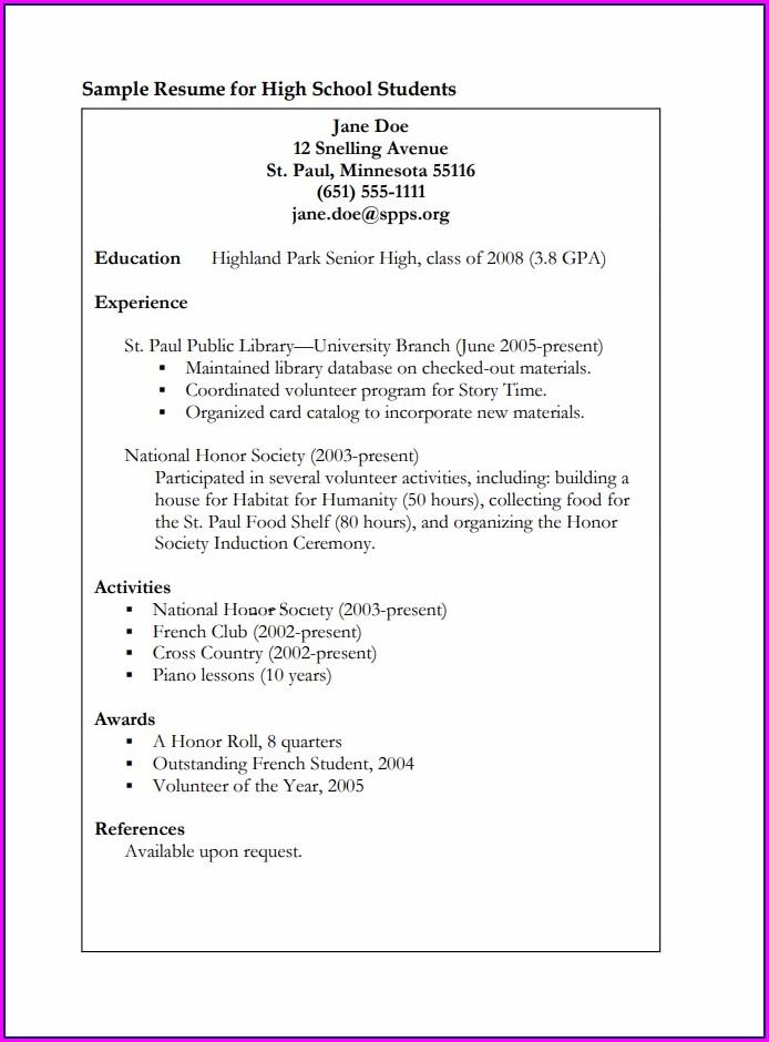 Free Printable Resume Formats