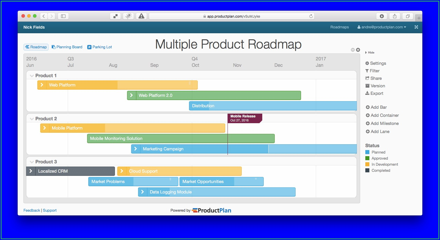 Free Product Roadmap Template