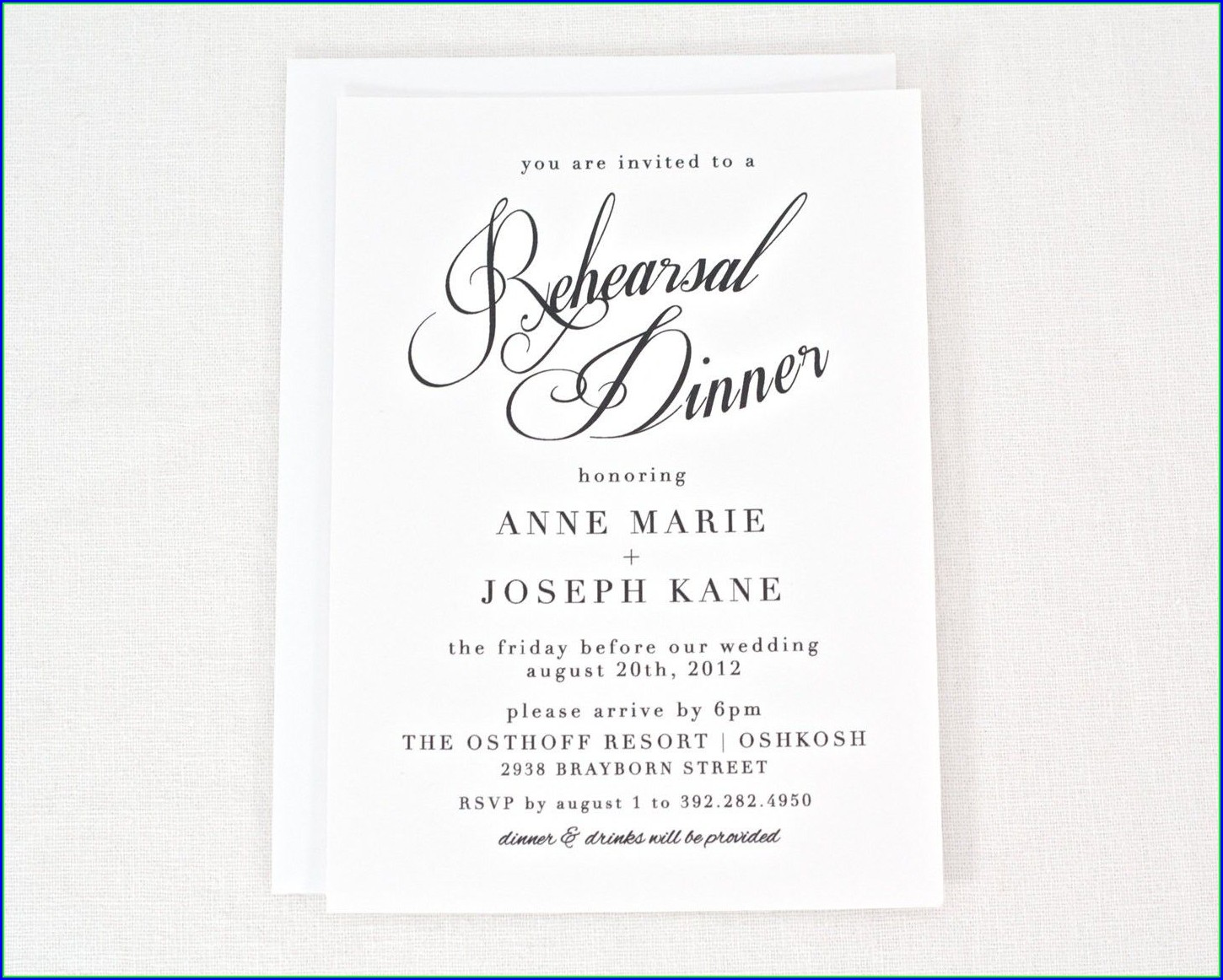 Free Rehearsal Dinner Invitation Template
