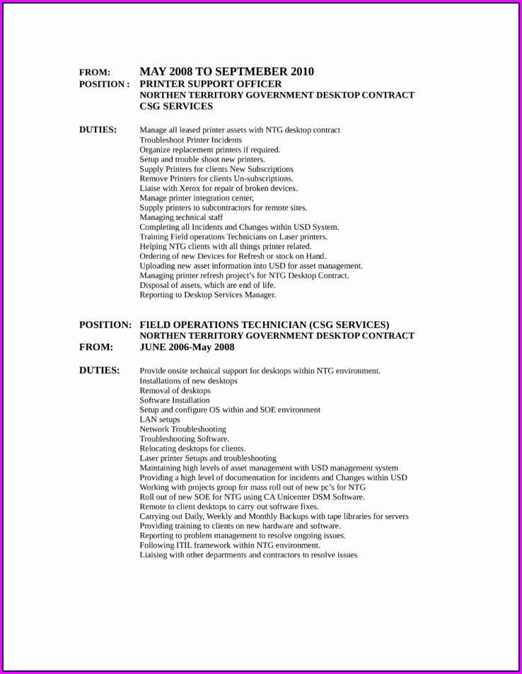 Free Resume Builder And Printer