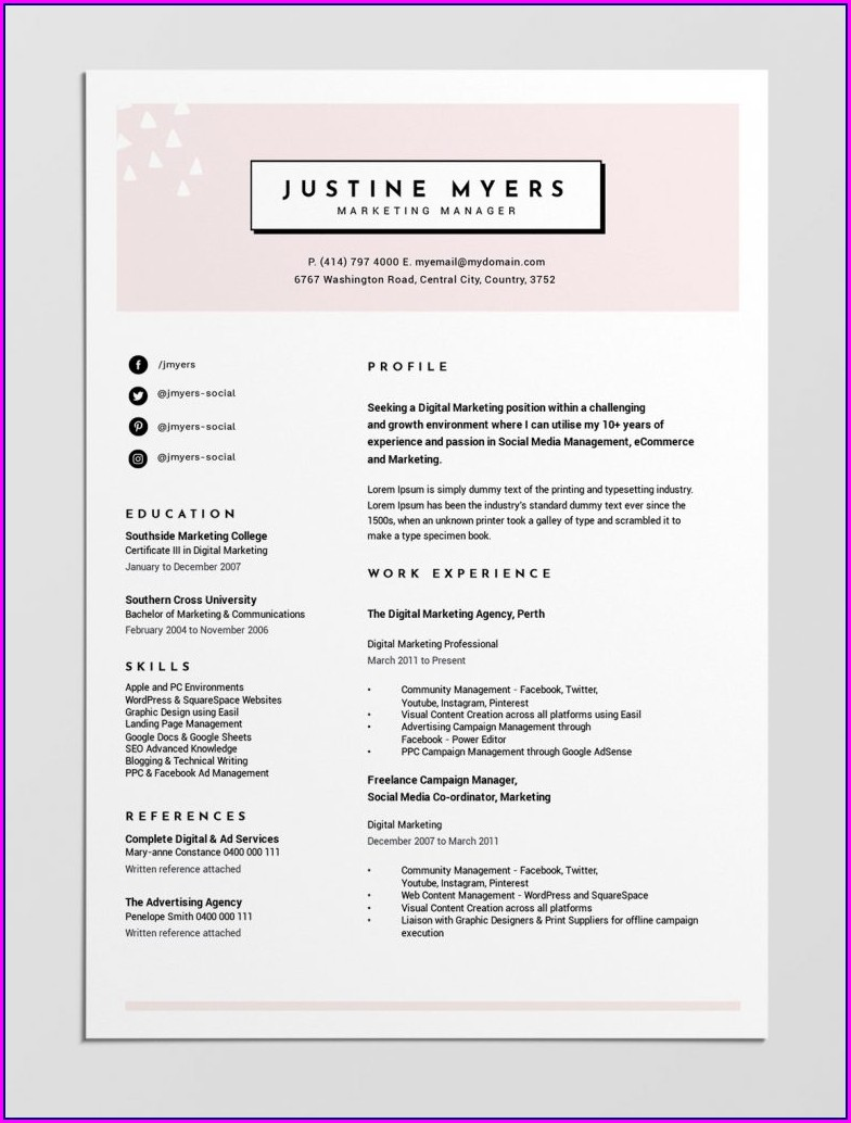 Free Resume Builder Microsoft Word Download