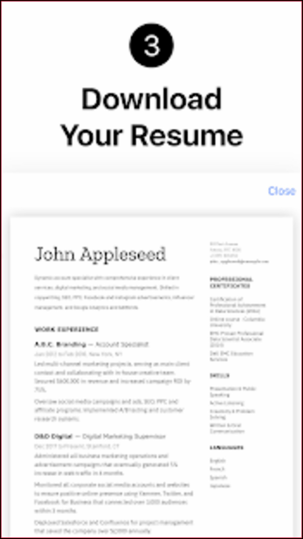 Free Resume Builder Pdf Download