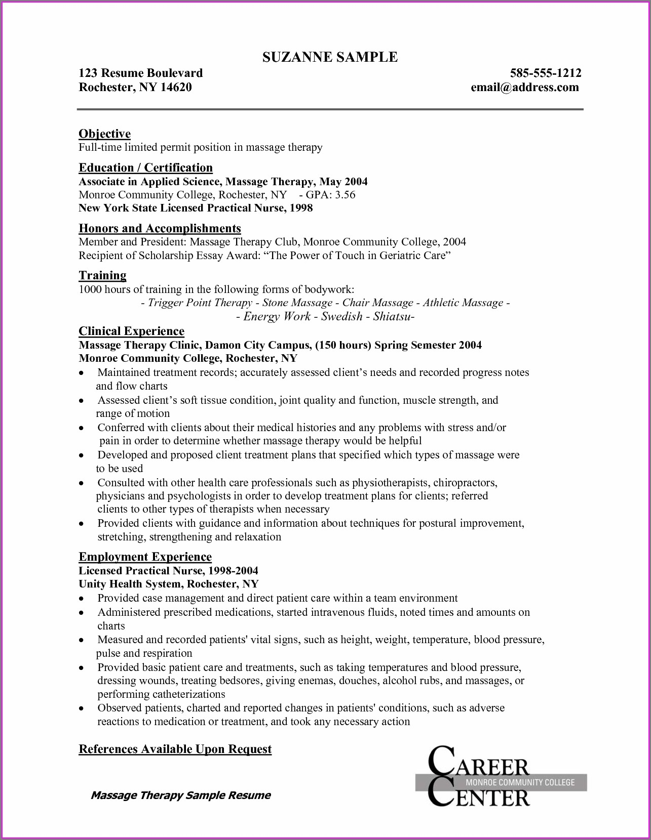Free Resume Examples For Nurses