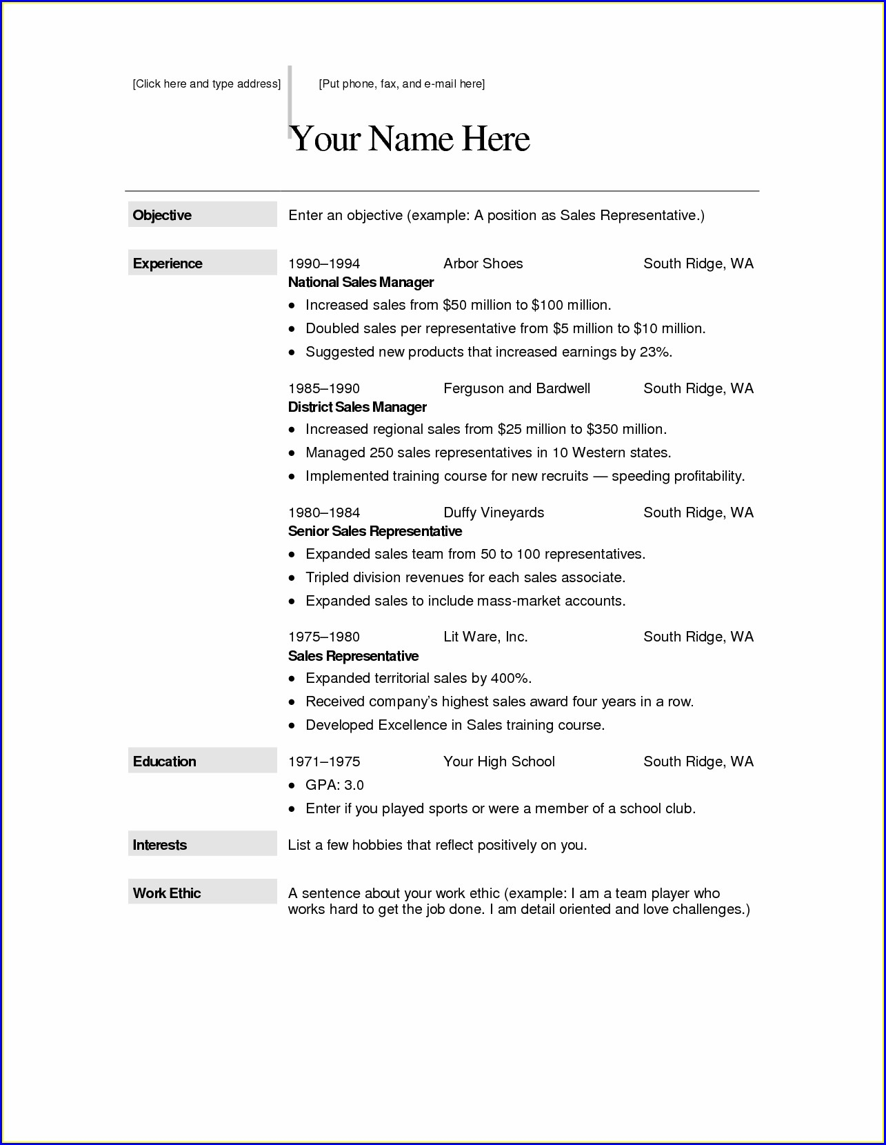 Free Resume Templates Pages Mac